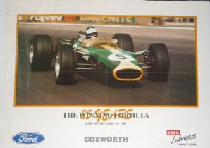 "LOTUS 49 Jim Clark COSWORTH FORD 25 Years 1967-1992 Poster 23 x 16"" (590 x 400mm)"
